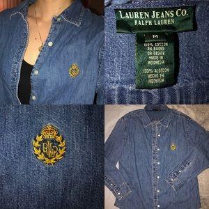 Vintage Ralph Lauren Button Down Denim Jacket